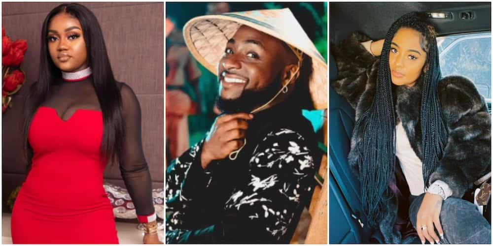 Chioma trends on Twitter as Nigerians react to new loved-up photos of Davido and alleged girlfriend Mya Yafai