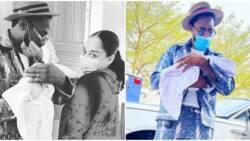 Singer D'banj shares beautiful new photos with wife and newborn daughter