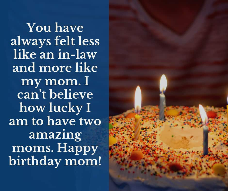 Birthday wishes for a mother in law