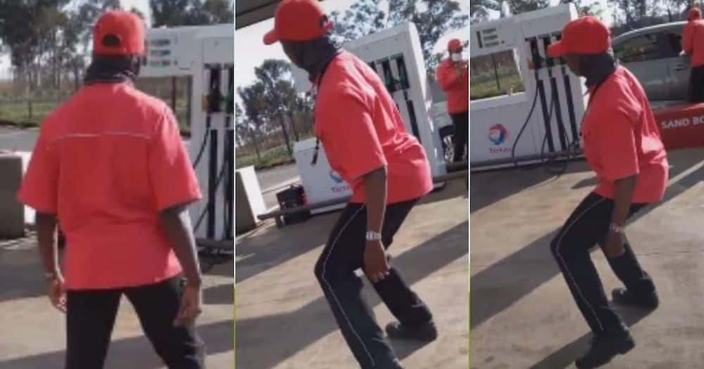 Mzansi, positively, reacts, gas station, dance, challenge