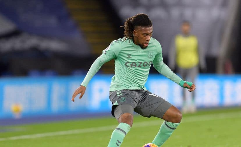 Alex Iwobi in action for Everton