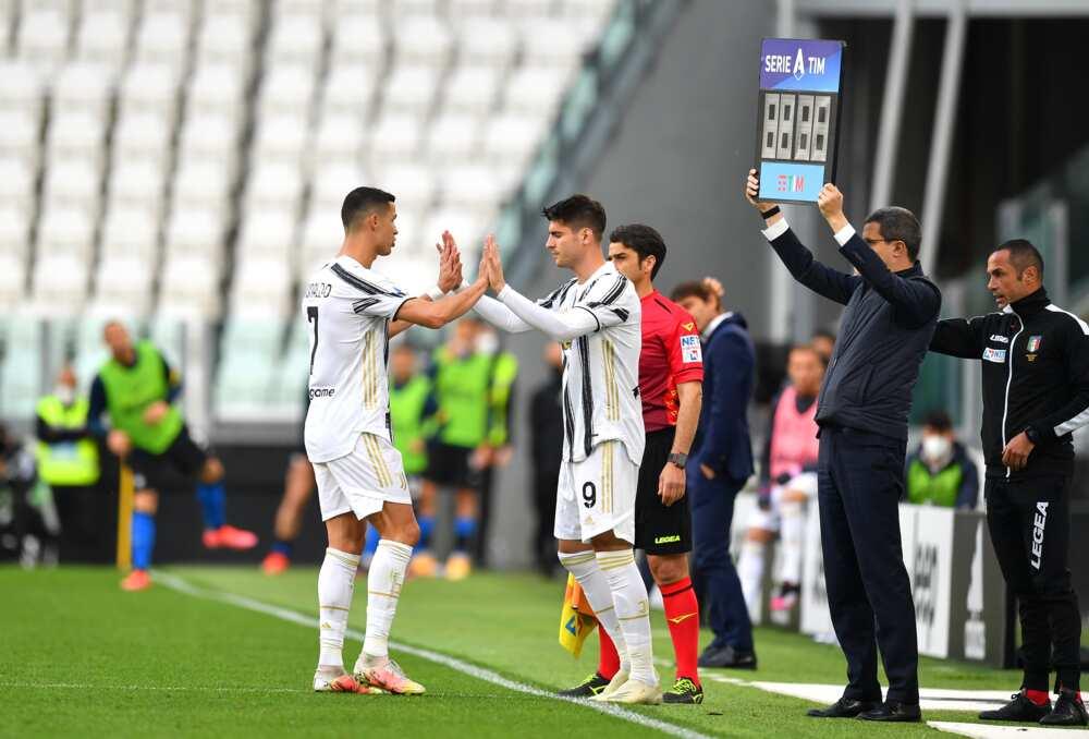 Alvaro Morata and Ronaldo.