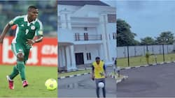 Super Eagles legend gives fans a tour of his multi-million naira mansion while showing great skills with the ball