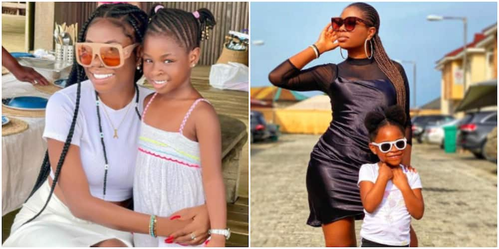 Too Cute: Nigerians React as Davido's 1st Child Imade Holds Beautiful Conversation With Mother