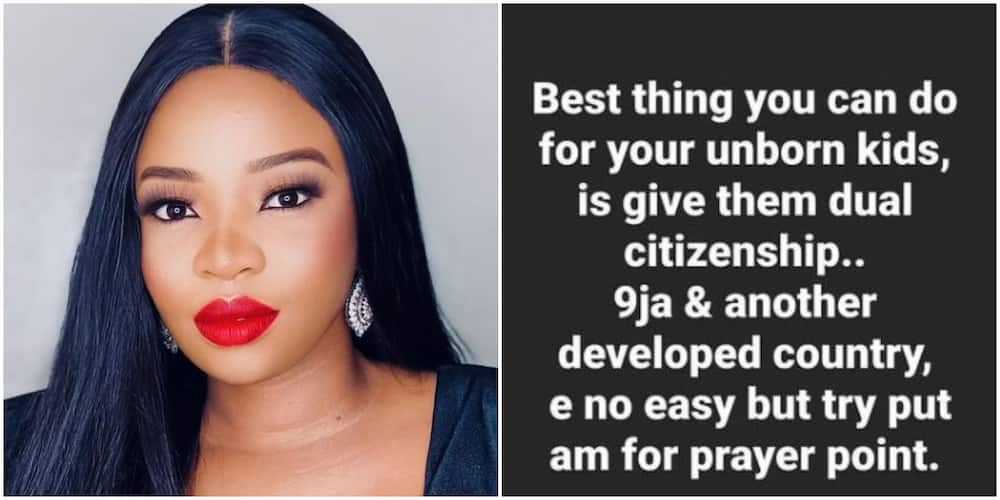 The Best Thing You Can Give Your Unborn Child is Dual Citizenship: BBNaija Star Cindy Says, Fans React