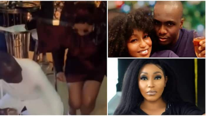 Just have money: Nigerians react as Rita Dominic and her man turn up to celebrate Mo Abudu at 57