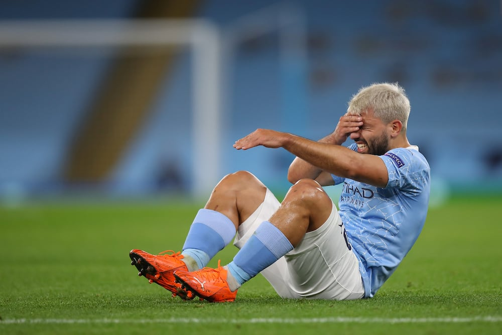 Sergio Aguero: Guardiola says the Argentine could be out of action for 1 month