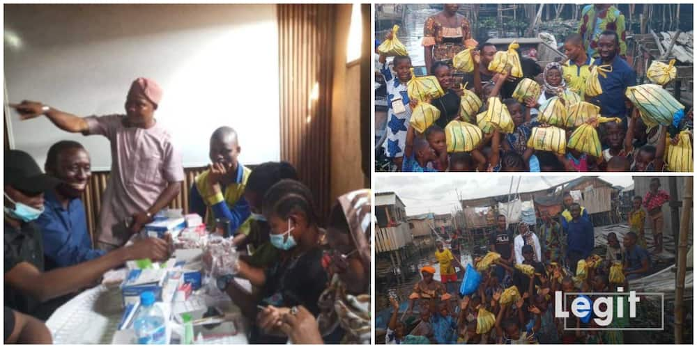 Man surprises 50 families in slum with food items and medical support