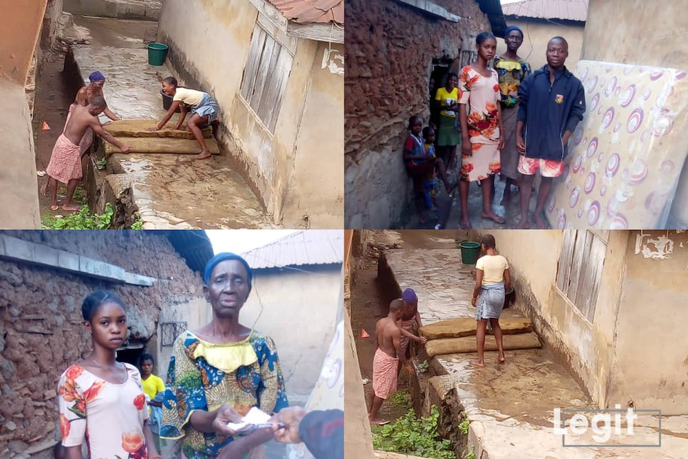 Days after Legit.ng's post, family who washed old mattress on Christmas Day receives help
