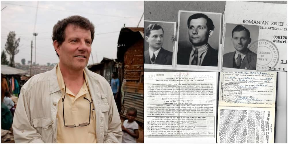 Nicholas Kristof said his father was refugee in the United States