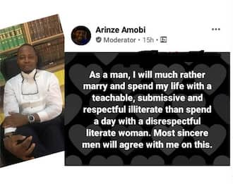 I will rather marry a respectful illiterate than spend a day with a disrespectful literate woman, lawyer writes