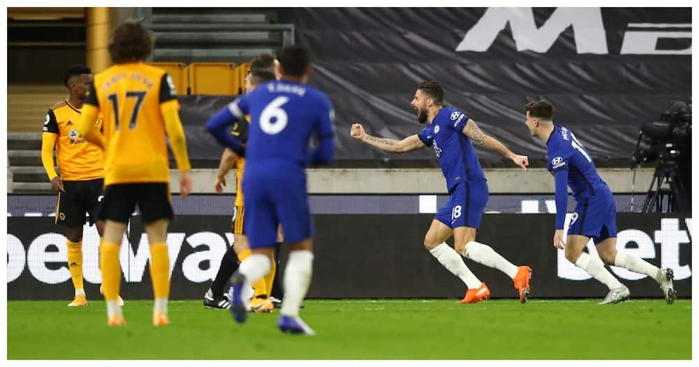 Wolves 1-1 Chelsea: Giroud scores again but Chelsea lose more ground in title race