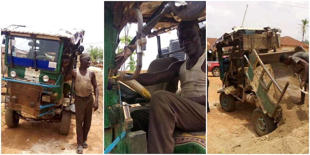 70-year-old Nigerian man builds lorry, supplies sand for building construction to villages in new photos