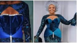 What I ordered: Nigerians react as lady collects 'breakfast' from her tailor