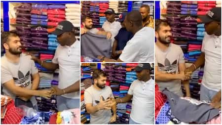 Video shows Oyinbo man speaking Igbo to Nigerians in Dubai, advertises his clothes with language, many react