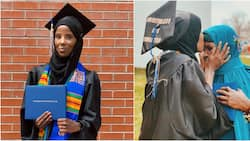 African model who lived as a refugee graduates from a prestigious US university (photos)