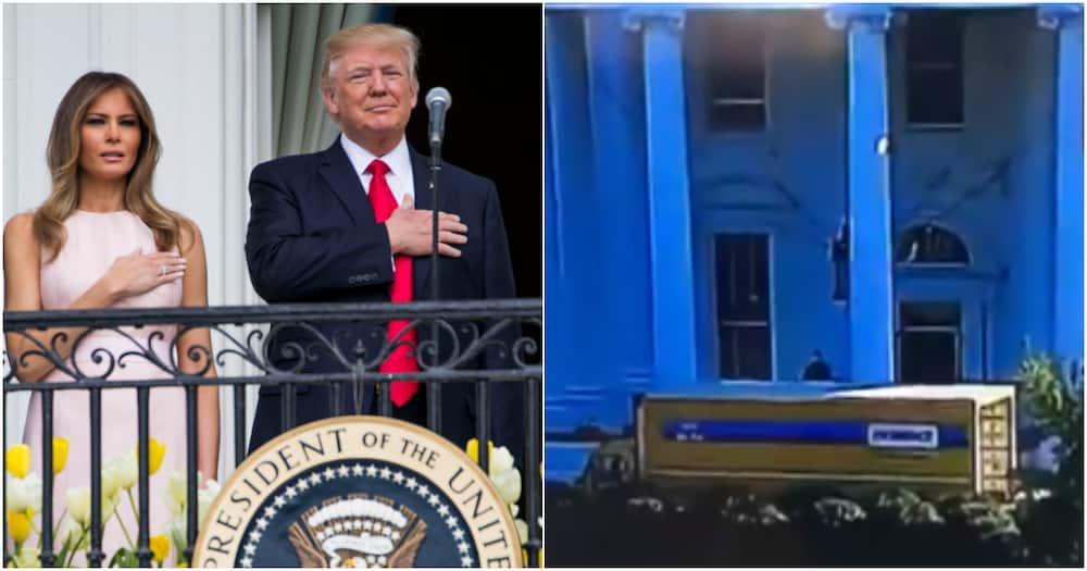 Americans mock Donald Trump, wife after spotting moving truck outside White House