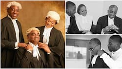 Family legacy: Check out powerful portrait of Obafemi Awolowo's grandson Segun, wife and son who are all lawyers