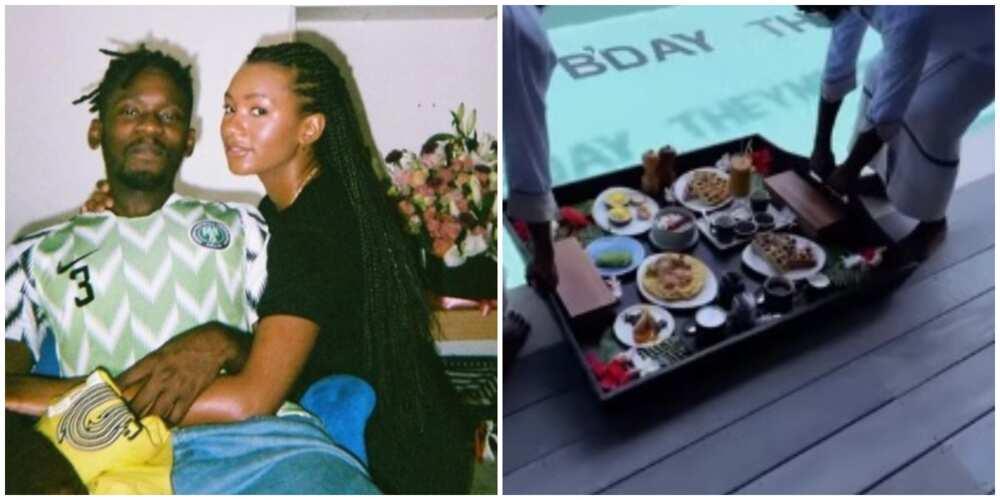 Mr Eazi Treats Temi Otedola to Special Breakfast on Her 25th Birthday, Shares Video