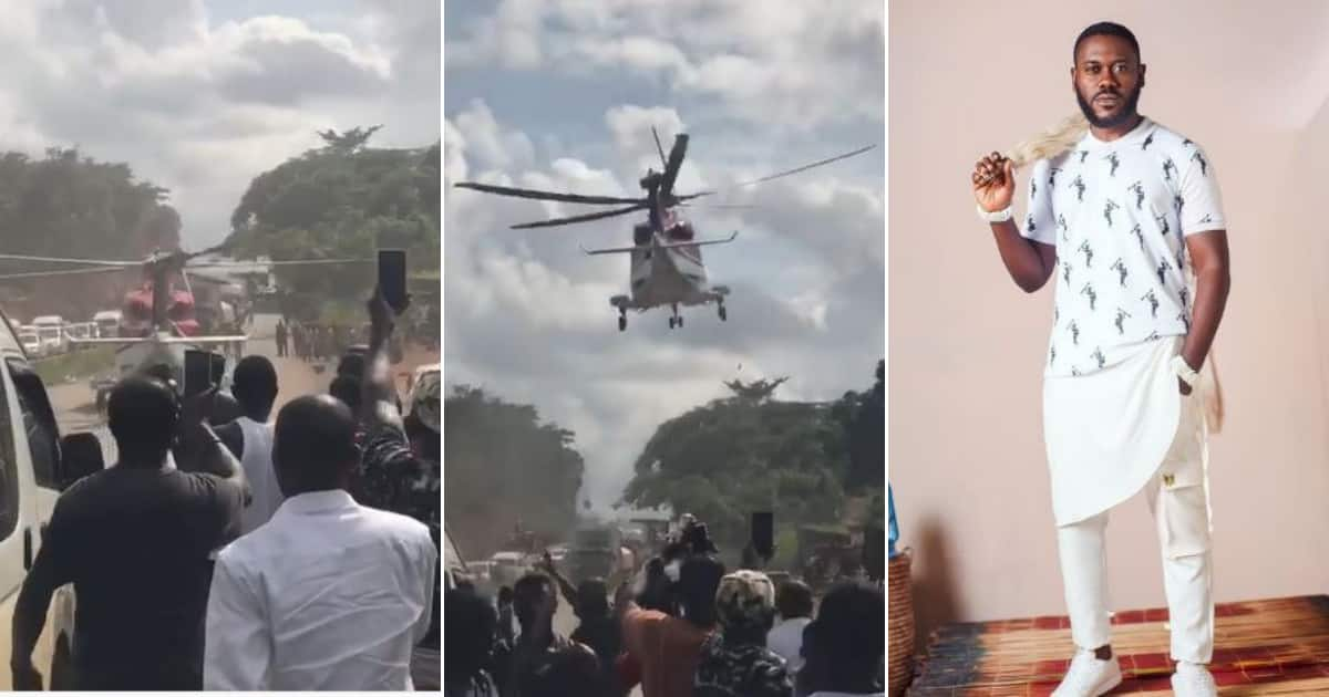 Big boy causes 5-hour traffic after sending chopper to pick babe, actor reacts