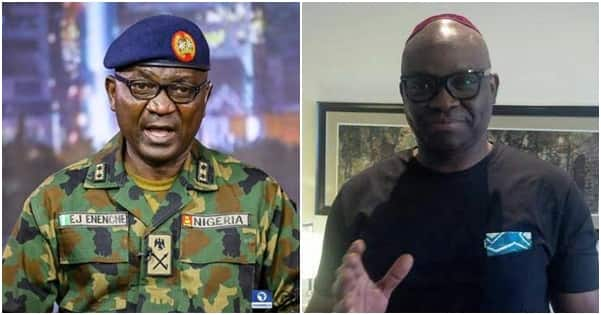 Insecurity: Nigerian Army accuses Fayose of spreading fake news