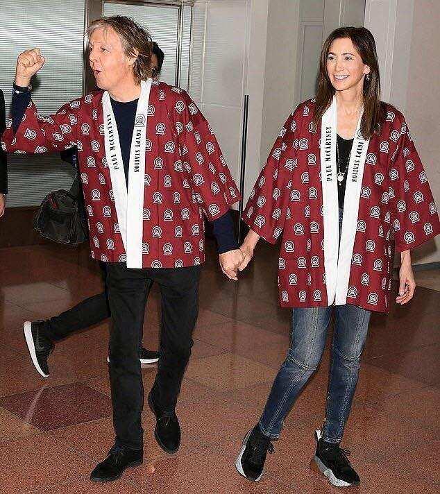 Paul McCartney and his wife