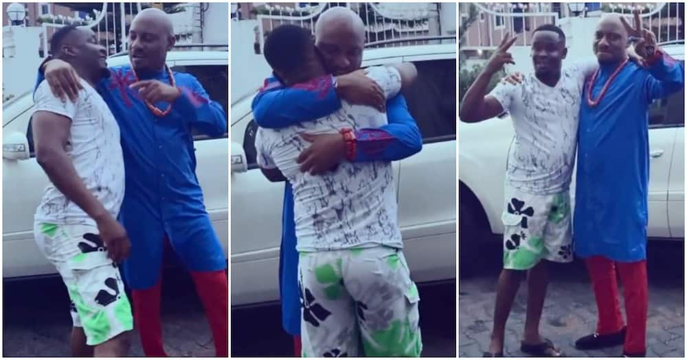 Actor Zubby Michael and colleague Yul Edochie finally settle their rift (video)