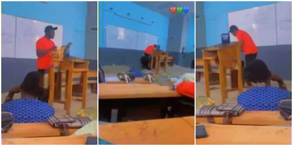 Reactions as Nigerian lecturer is captured in video teaching students with rap song