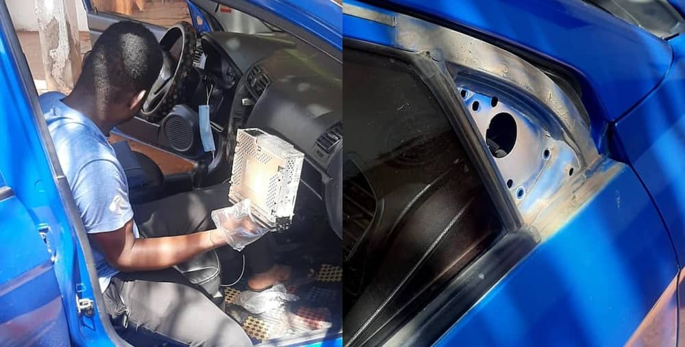 Thief caught after sleeping in a car he broke into
