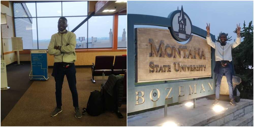 Emmanuel Osuagwu has left Nigeria for the US to study