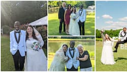 Overjoyed black man celebrates getting married to his Oyinbo lover, their wedding pictures get many talking