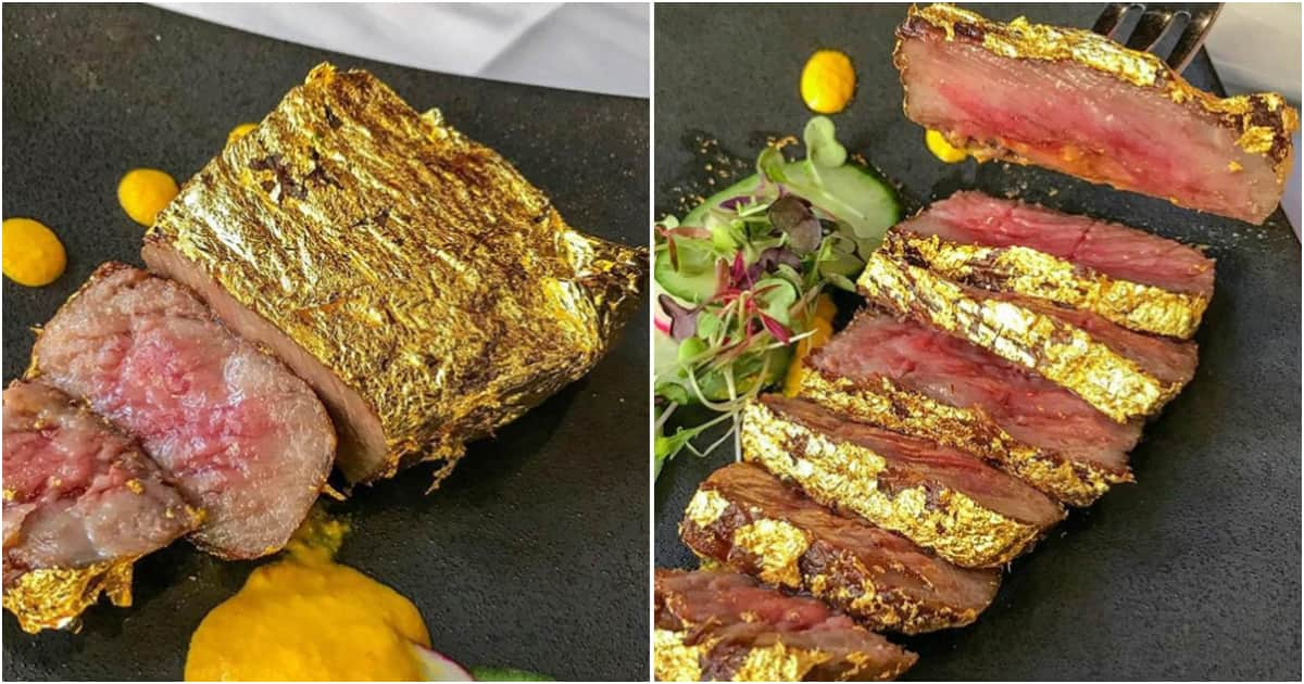 Lagos restaurant charges N90k for 'gold plated' steak - Legit.ng