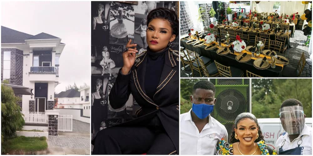 Actress Iyabo Ojo holds shares colorful photos from her housewarming party
