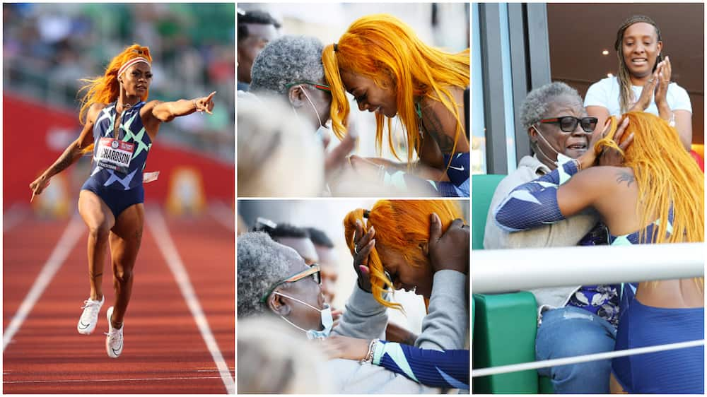 Sha'carri Richardson walked to the grandma to her victory with her.