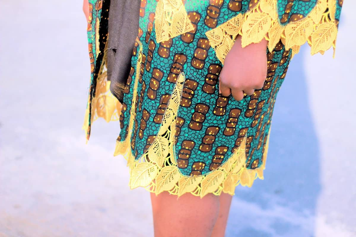 Lace and ankara best combinations