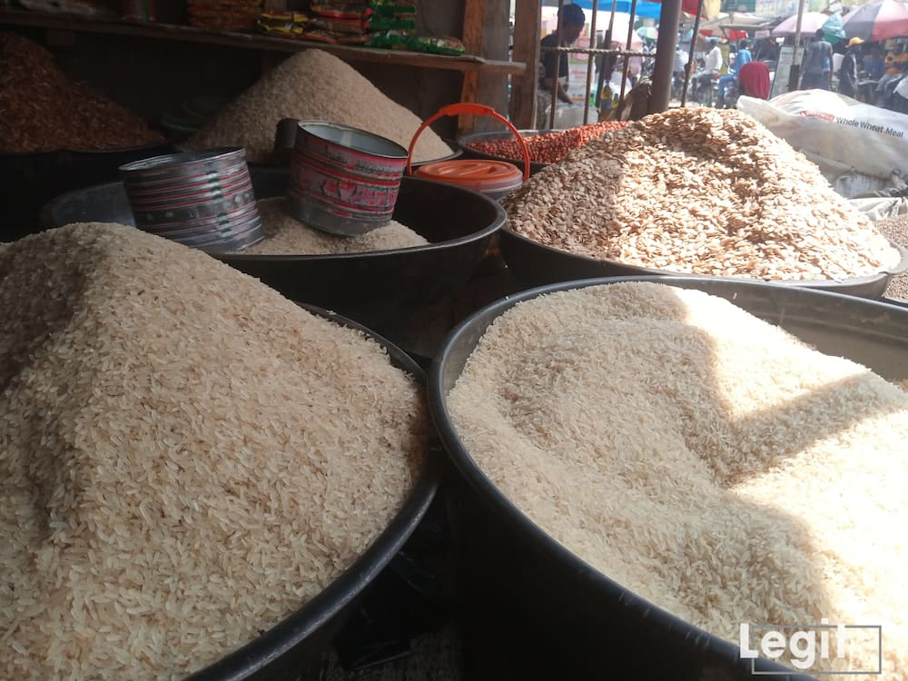 The price of foreign rice dropped further in market across the state. Photo credit: Esther Odili