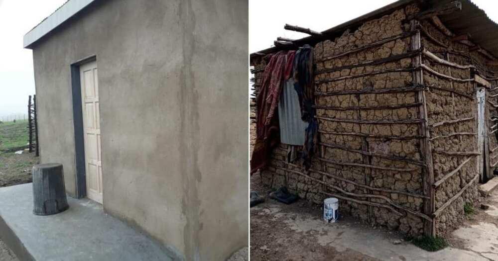 Good Samaritan builds house for struggling granny, inspires Mzansi
