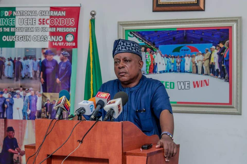 Uche Secondus: PDP Chairman Faces Possible Sack as Defections Hit Opposition Party