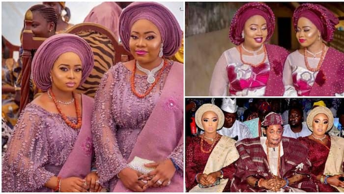 These 7 cute photos of Alaafin of Oyo's youngest wives in traditional attires will make you believe they are best friends