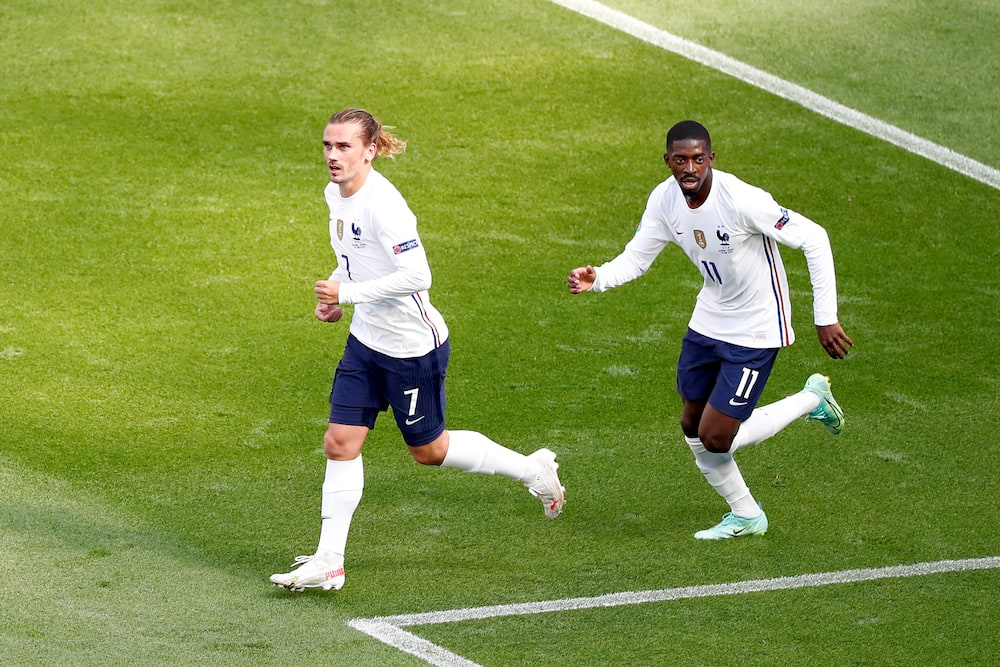 Antoine Griezmann and Dembele.