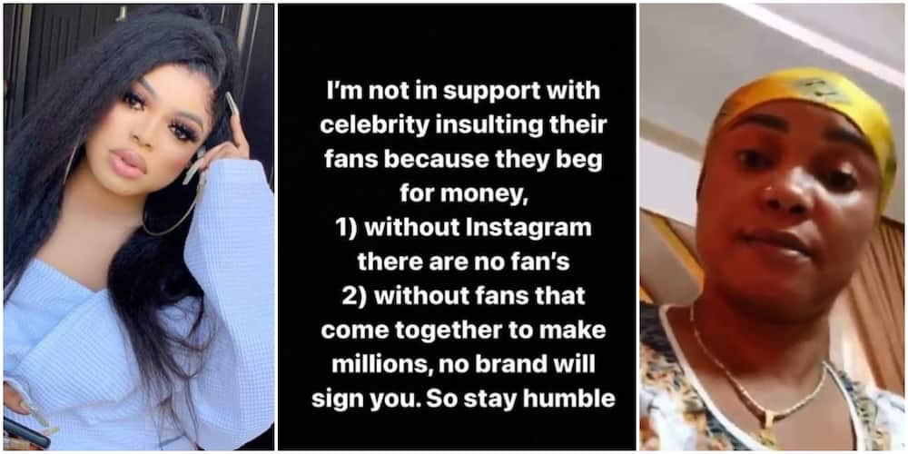 Bobrisky reacts as Iyabo Ojo blasts entitled fans, says he is not in support