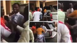 Drama as angry church members fight pastor after he bought new car, demand refund of their tithes in video