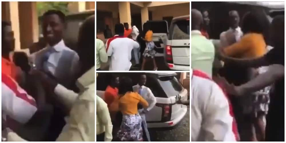 Video shows moment church members fight pastor for buying new car, demand for their tithes to be returned