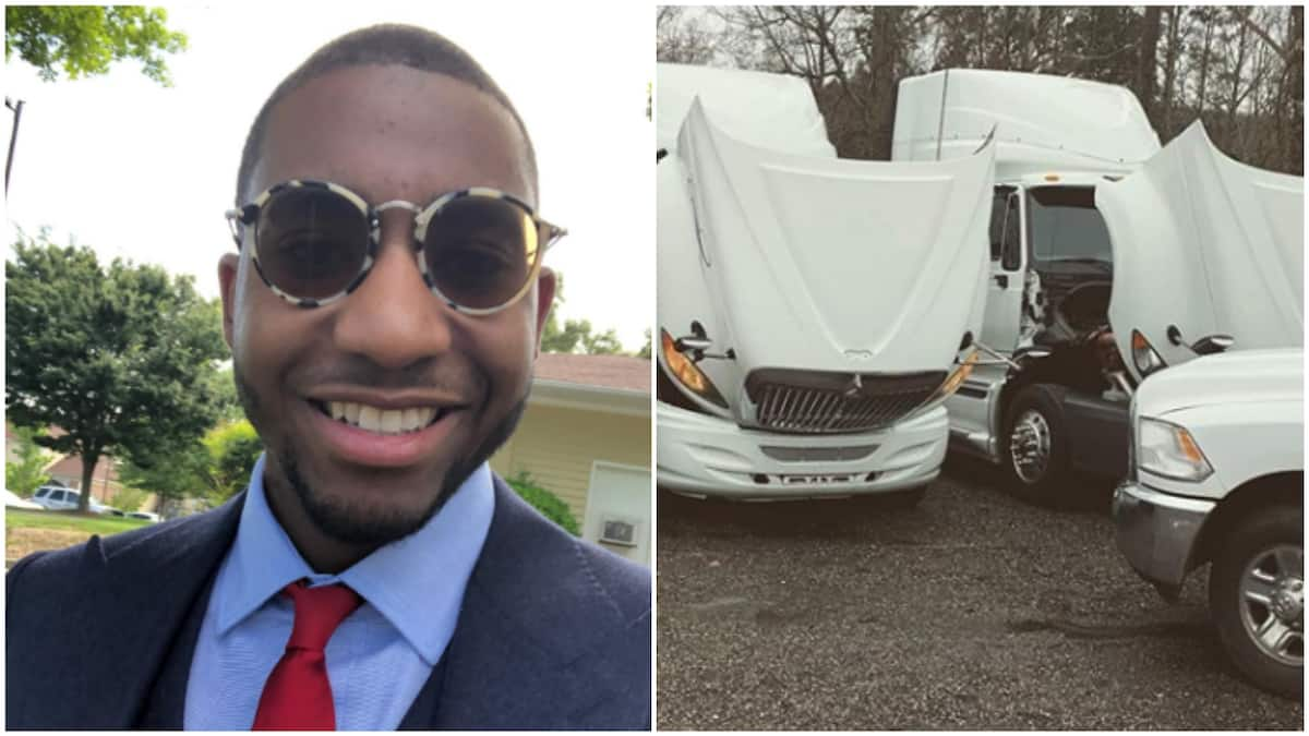 23-year-old becomes youngest black entrepreneur with fleet of trucks working with US govt