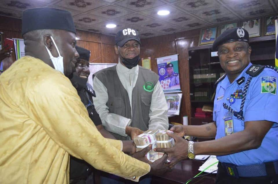 Reward for honesty! Police honour two officers who rejected N1 million bribe