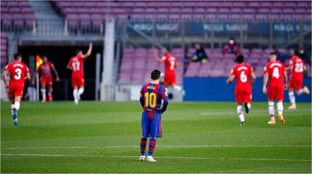 Hard-fighting Granada shatter Barcelona's La Liga title dreams after stunning win in Camp Nou