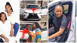 Yemi Alade's mum goes into 'praise & worship' mode as singer surprises her with Lexus SUV on her birthday