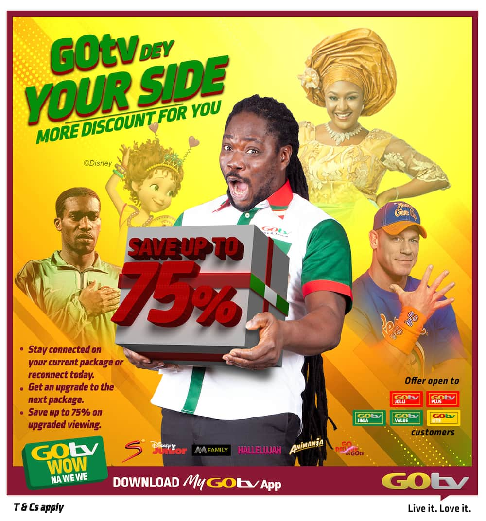GOtv dey your side with an amazing discounts