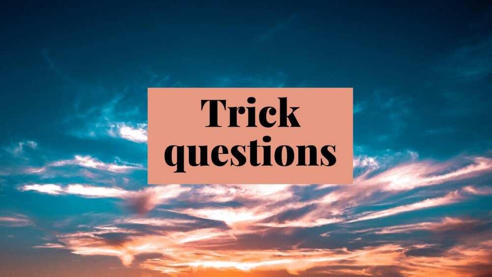 trick questions