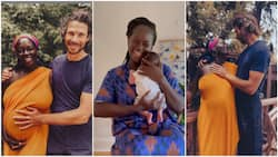 Joy as late Dora Akunyili's daughter welcomes child with husband, shows baby off in video